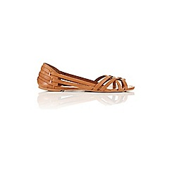 Miss Selfridge - Evie leather huratchi sandal