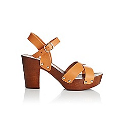Miss Selfridge - Fionne wood heel sandal