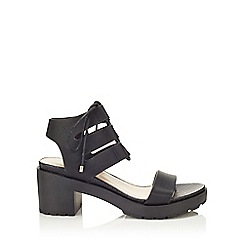 Miss Selfridge - Freya black cleated sandal