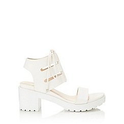 Miss Selfridge - Freya white cleated sandal