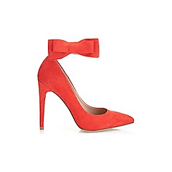 Miss Selfridge - Geri red bow court shoe