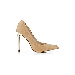 Miss Selfridge - Glam toffee snake court shoes
