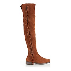 Miss Selfridge - Khloe suede fringe boots