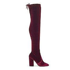 Miss Selfridge - Koko velvet over the knee boots