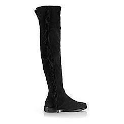 Miss Selfridge - Khloe fringe suede boots