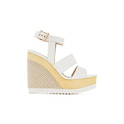 Miss Selfridge - Mecca faux wood wedge