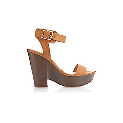 Miss Selfridge - Mira tan split wedge
