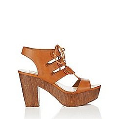 Miss Selfridge - Milan ghillie tie wedge sandal