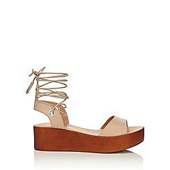Miss Selfridge - Marlena nude flatform sandal