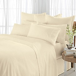 Sheridan - Beige 600 thread count egyptian blend sateen valance sheet