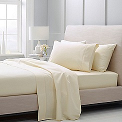 Sheridan - Cream 1000 thread count cotton sateen Oxford pillow case