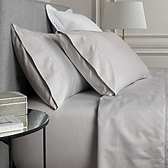 Sheridan - Pale grey '1000 thread count cotton sateen' Oxford pillow case pair