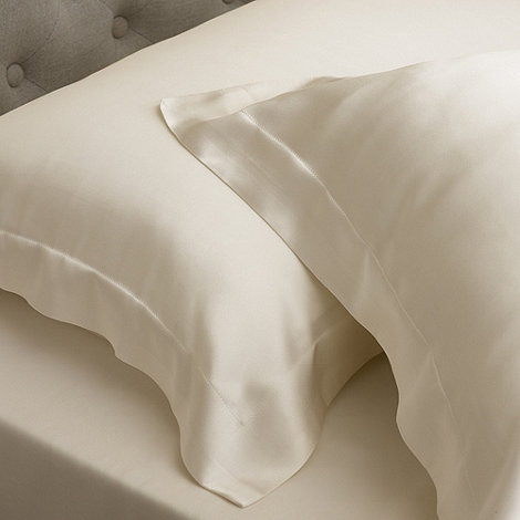 Sheridan - Cream silk +Lanham+ Oxford pillow case