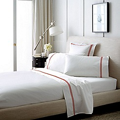 Sheridan - White and Red 1200 thread count 'Palais' flat sheet