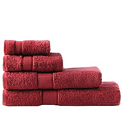 Sheridan - Dark red 'Egyptian Luxury' towels