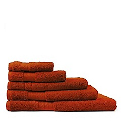 Sheridan - Burnt red 'Lux egypt cotton towel' towel