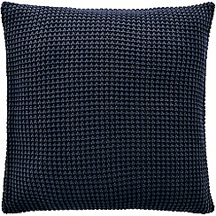 Sheridan - Midnight knitted 'Haden' square pillow case