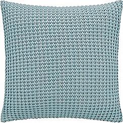 Sheridan - Mid blue 'Haden' square cushion