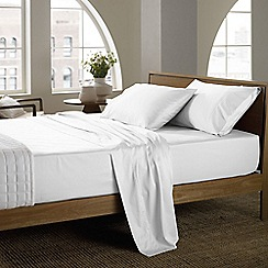 Sheridan - White 400 thread count sheridan sateen fitted sheet