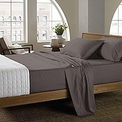 Sheridan - Dark grey '400 thread count cotton sateen' sheet pillow case pair