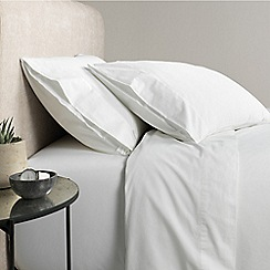 Sheridan - White 300 thread count percale flat sheet