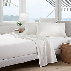 Sheridan - White '300 thread count percale' quilted valance sheet