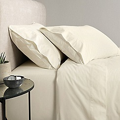 Sheridan - Cream 300 thread count percale flat sheet