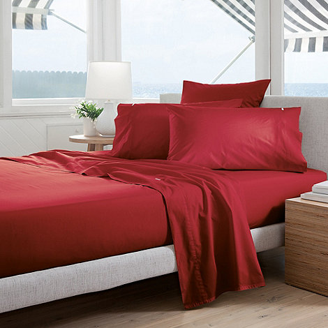 Sheridan - Red +Classic Percale+ sheets