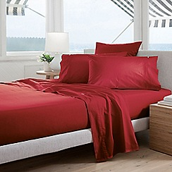 Sheridan - Red 300 thread count percale square pillow case