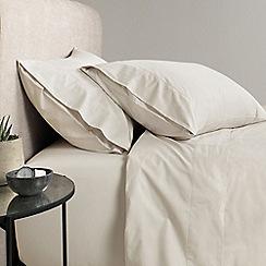 Sheridan - Natural '300 thread count percale' flat sheet
