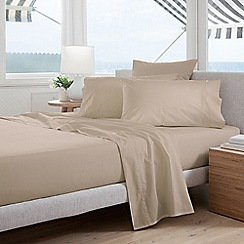 Sheridan - Light brown 300 thread count percale fitted sheet