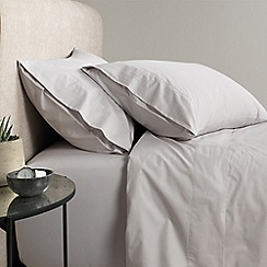 Sheridan - Pale grey '300 thread count percale' flat sheet