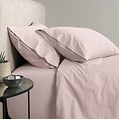 Sheridan - Pale pink '300 thread count percale' flat sheet