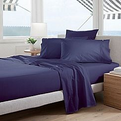 Sheridan - dark blue 'Classic Percale' sheets