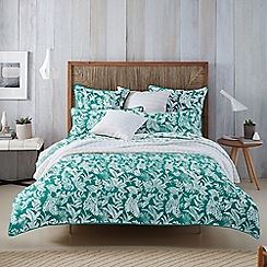 Sheridan - Green 300 thread count 'Coralreef' pillow case pair
