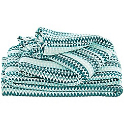 Sheridan - Dark Green 'Stalactites throw