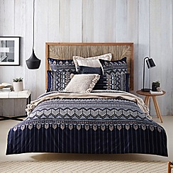 Sheridan - dark blue 'Karijini' bed linen