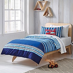 Sheridan - blue 'Queenscliff' kid's bed linen