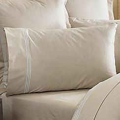 Sheridan - Camel 1200 thread count 'Palais lux' sheet pillow case pair