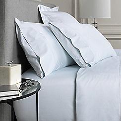 Sheridan - Light blue 1200 thread count 'Palais lux' flat sheet