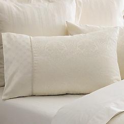 Sheridan - Cream 'Damask' pillow case pair