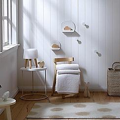 Sheridan - White 'Wattleseed' baby blanket