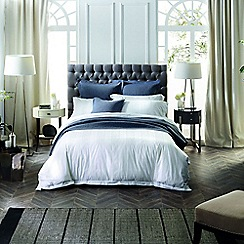 Sheridan - White 400 thread count 'Holloway' Oxford pillow case pair