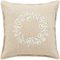 Sheridan - Flax 'Anula' cushion