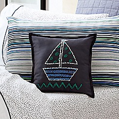 Sheridan - Midnight 'Pittwater' cushion