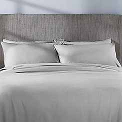 Sheridan - Pale grey 'Nashe' 250 thread deep fitted sheet