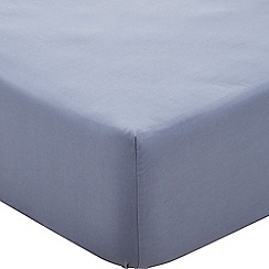 Sheridan - Blue 250 thread count 'Nashe' deep fitted sheet