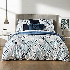 Sheridan - Aquamarine patterned 'Alchemie' bedding set