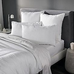 Sheridan - White 'Argentine' pillow case pair