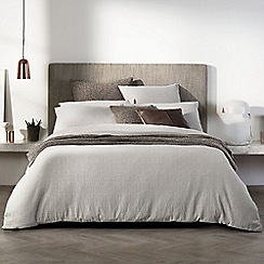 Sheridan - Light grey 'Broderie' duvet cover